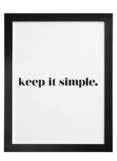 Nordbagen Keep It Simple Poster Siyah